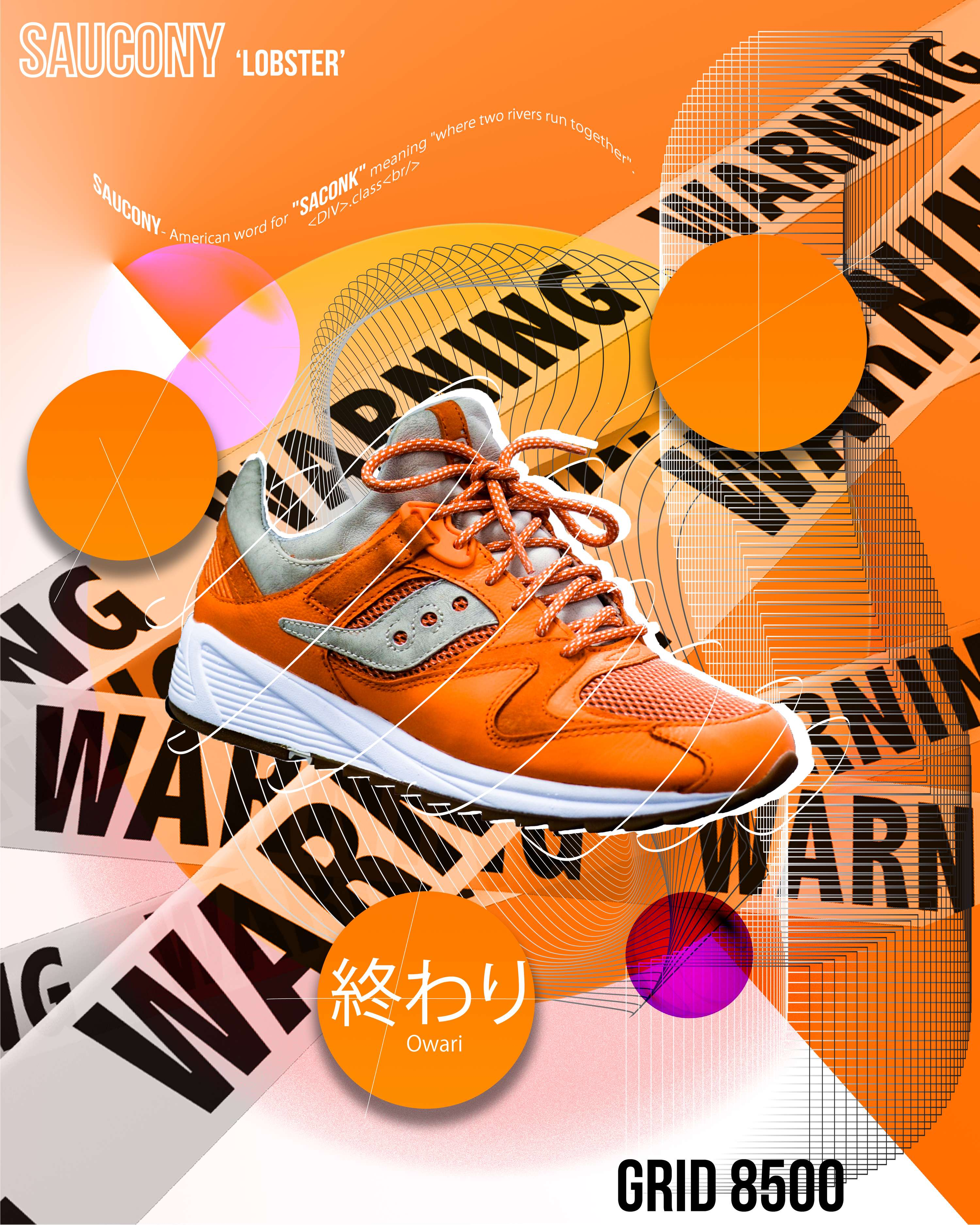 b1ca76724dd9 END. X SAUCONY GRID 8500  LOBSTER