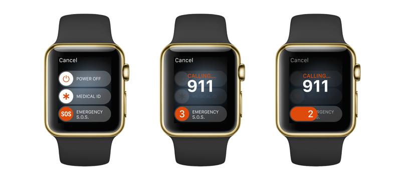 SOS Emergency on Apple Watch