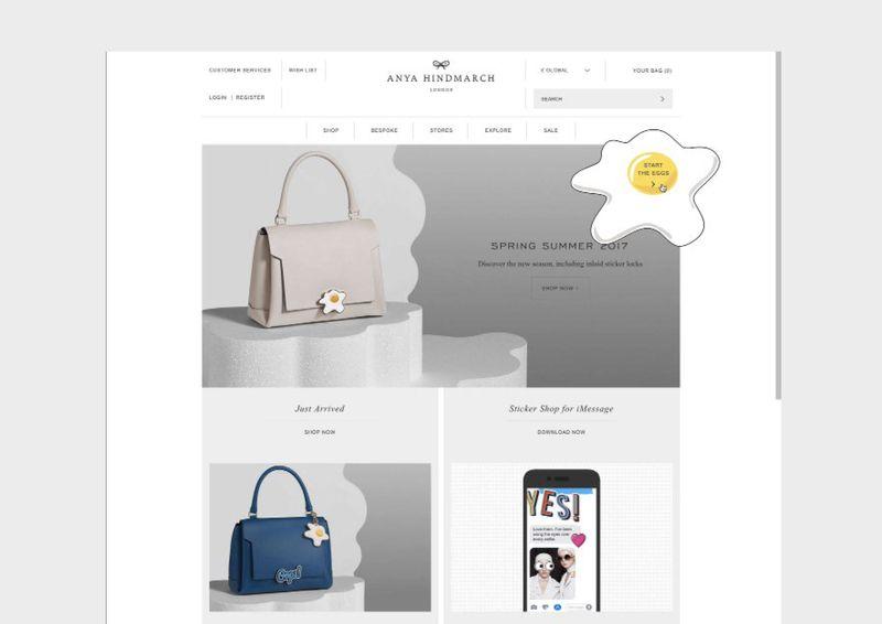 Anya Hindmarch Egg Homepage Takeover