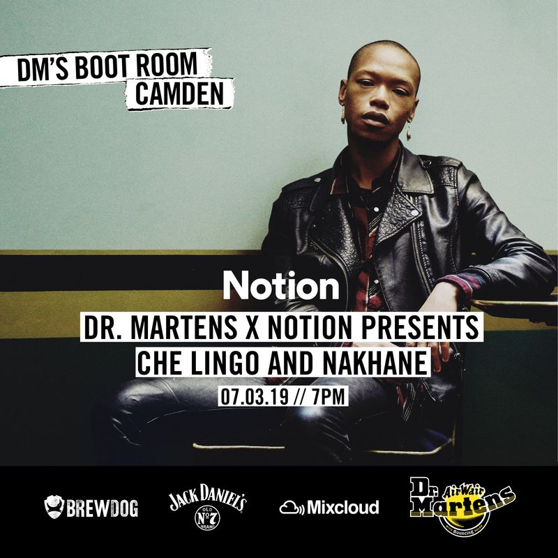Notion x Dr Martens x Mixcloud