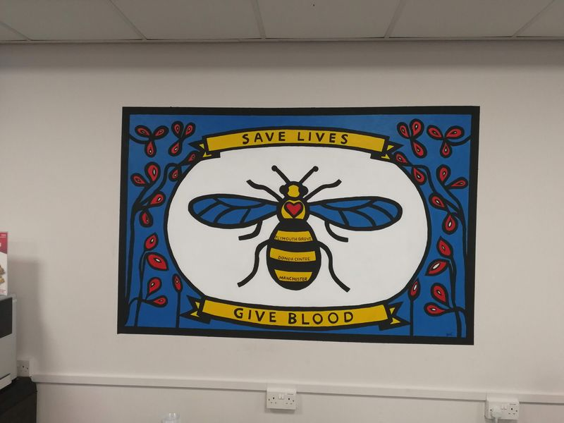 NHS Blood & Transplant Manchester Wall Mural