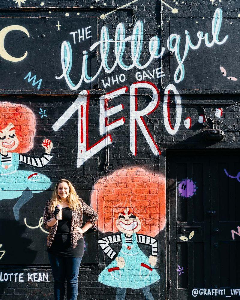 """Mural for """"The Little Girl Who Gave Zero F*cks"""""""