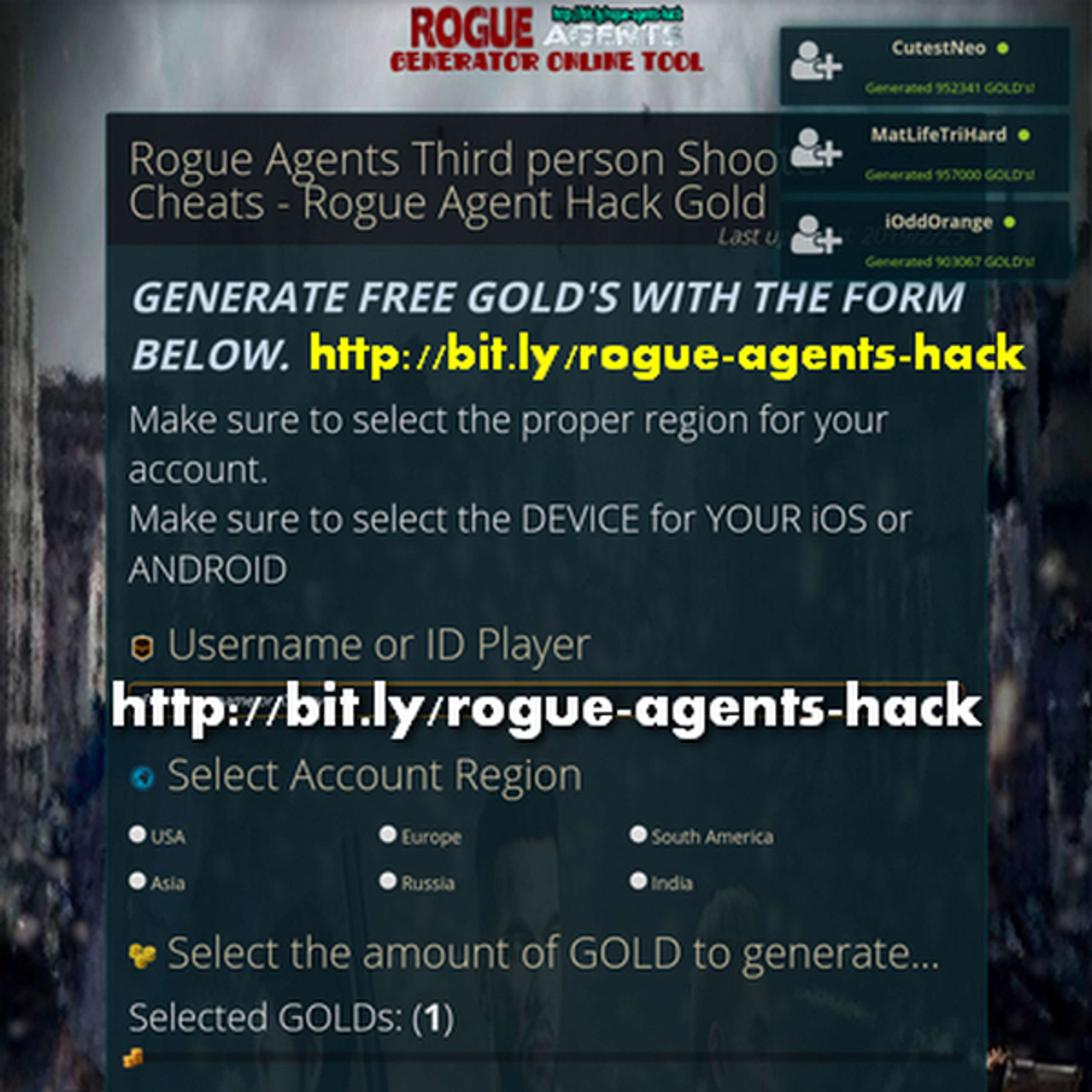 Rogue Agents Gold Generator | The Dots