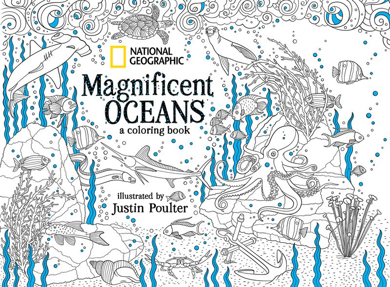 "National Geographic ""Magnificent Oceans"" Colouring Book"