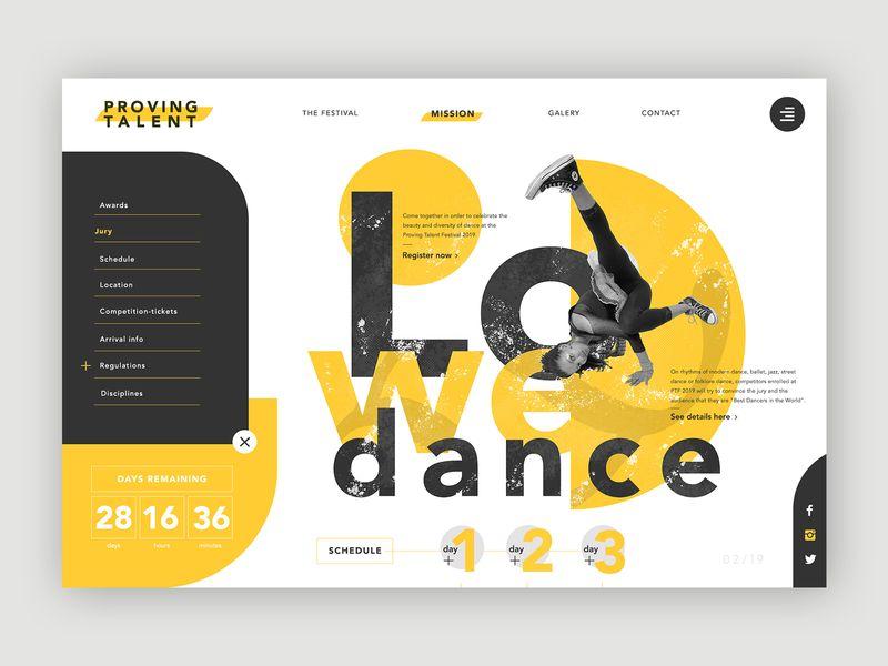 Dance Festival ➥ Web Design