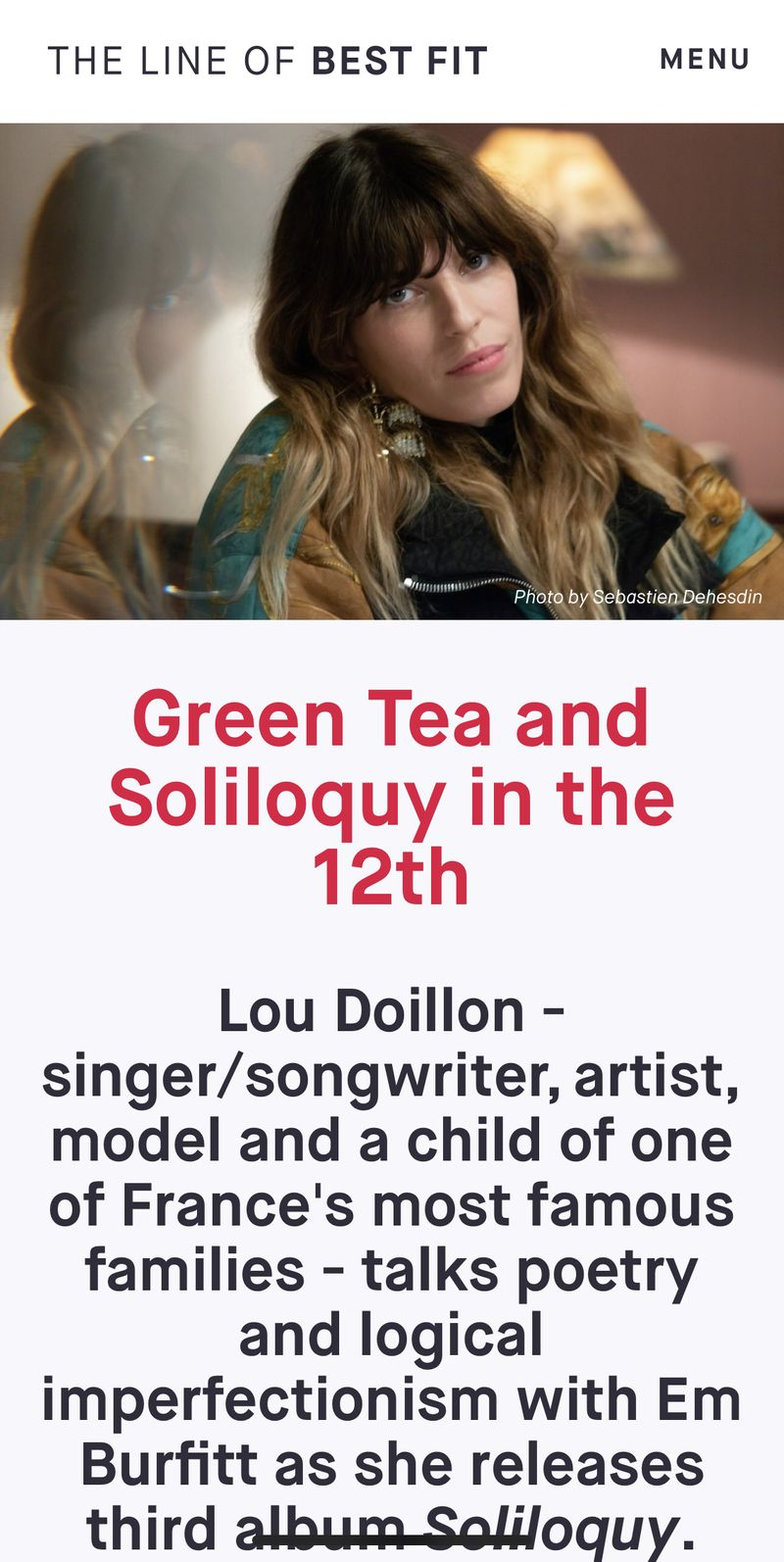 Lou Doillon: Green Tea & Soliloquy in the 12th