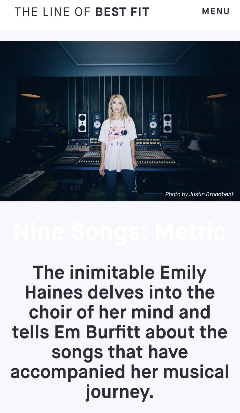 Nine Songs: Metric