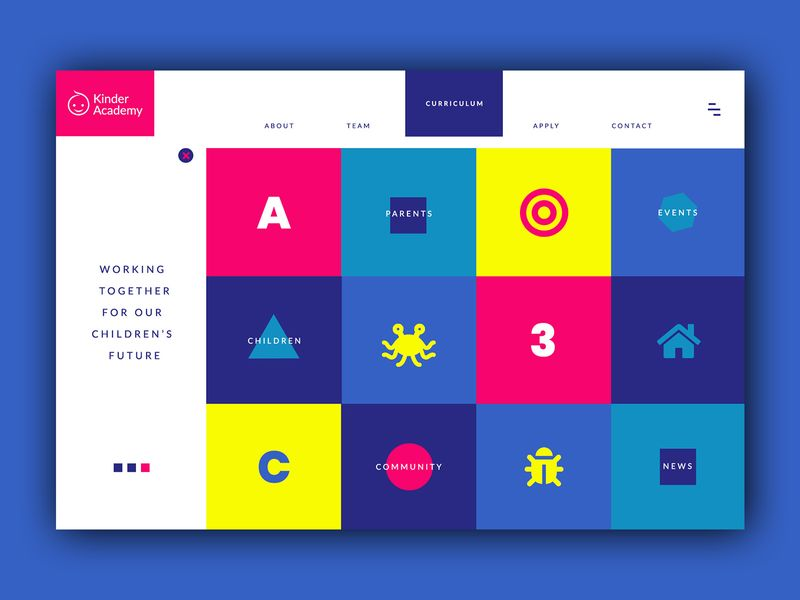 Kindergarten Homepage ➥ Web Design