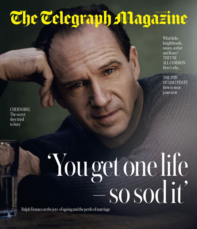 Ralph Fiennes x Telegraph Magazine x Boo George