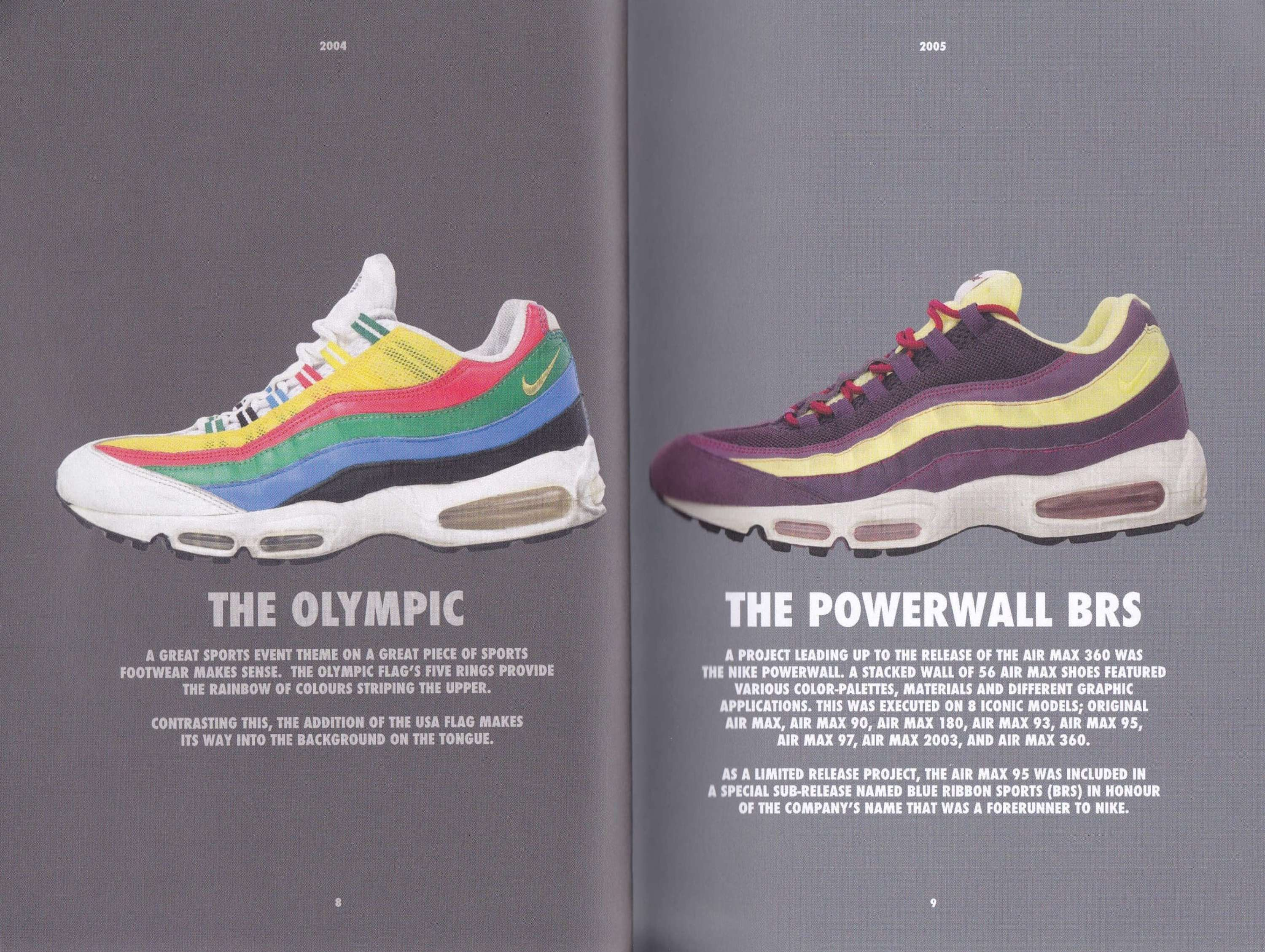 4f5d3208f9 An exhibition and accompanying book celebrated the 20 year anniversary of  the Nike Air Max 95, in partnership with sports footwear retailer, size?