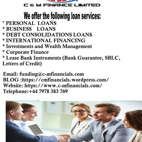 We Are Direct Providers of Loans, Project Financing, Lease