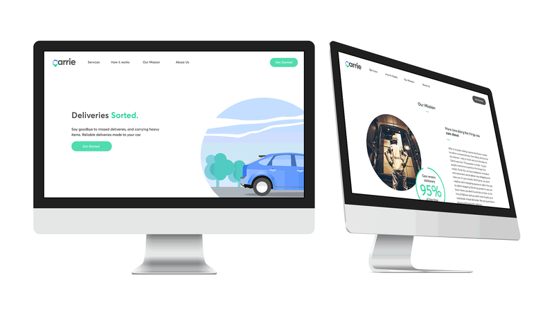 Carrie Delivery   Brand identity & multi-channel Website
