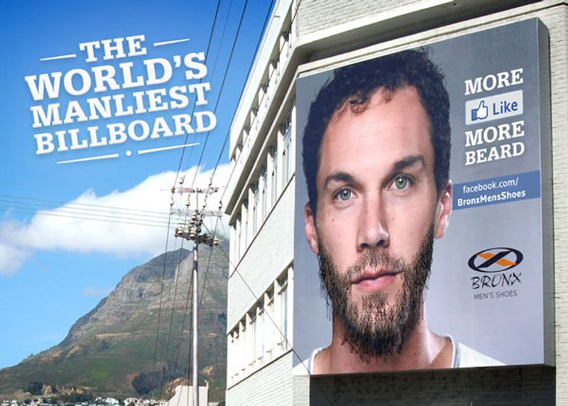 The Beard Growing Billboard