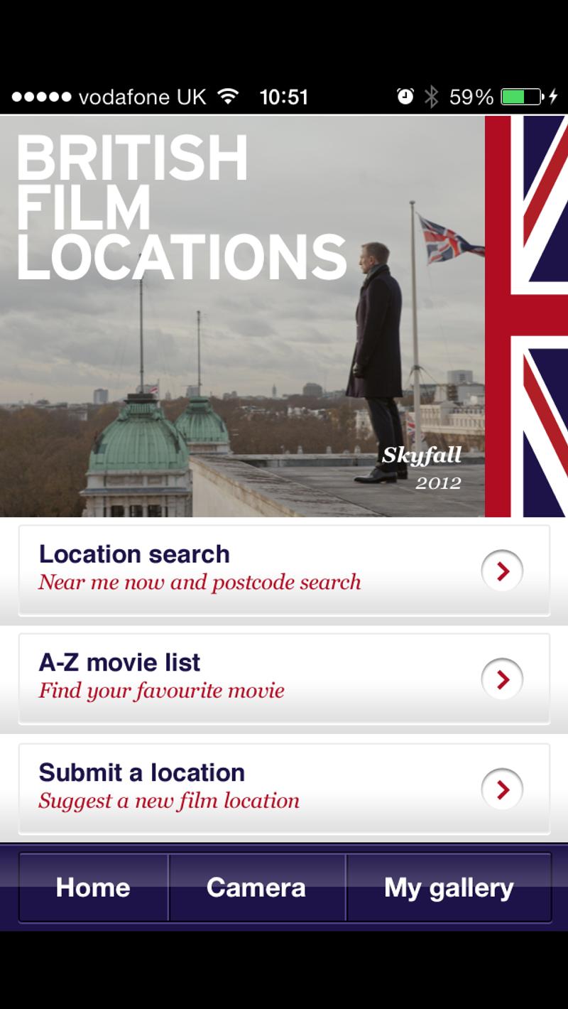 British Film Locations Mobile app