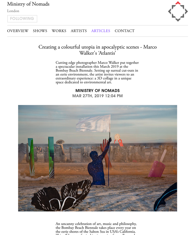Marco Walker at the Bombay Beach Biennale