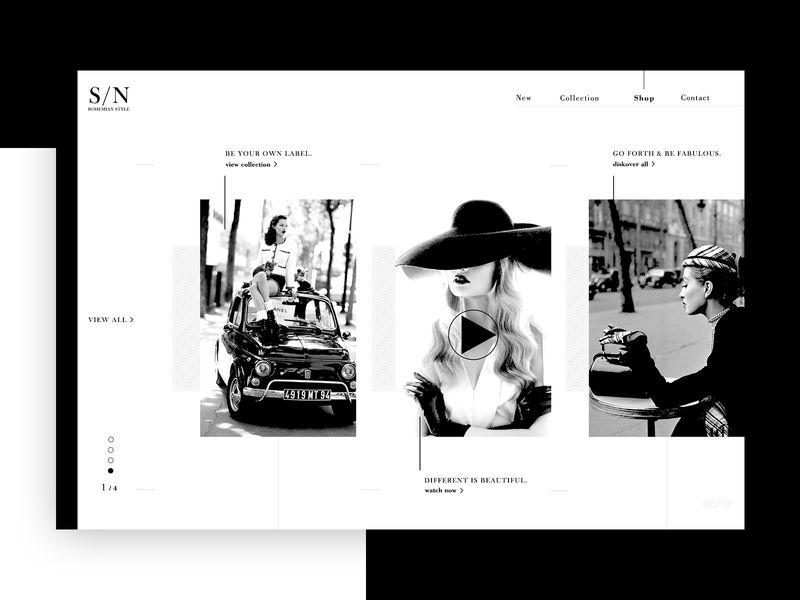 Women's Clothing ➥ Web Design