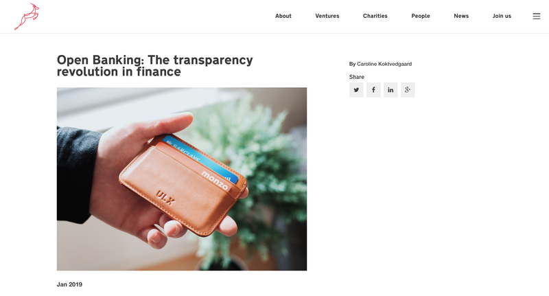 Blenheim Chalcot: Open Banking: The transparency revolution in finance