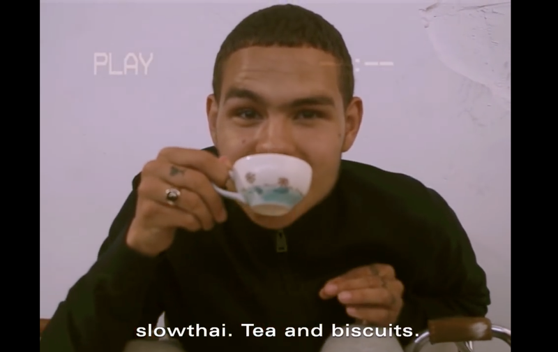 Tea and biscuits with Dazed100er slowthai