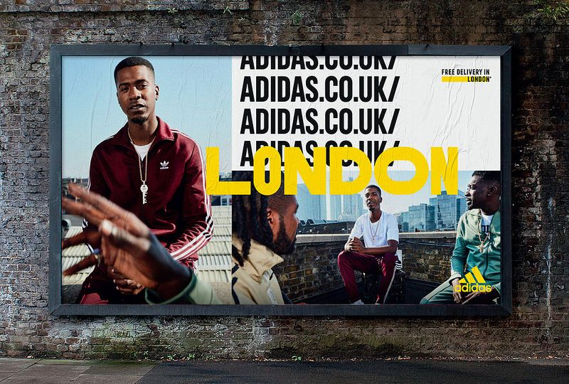Adidas.co.uk 360 online and outdoor London campaign