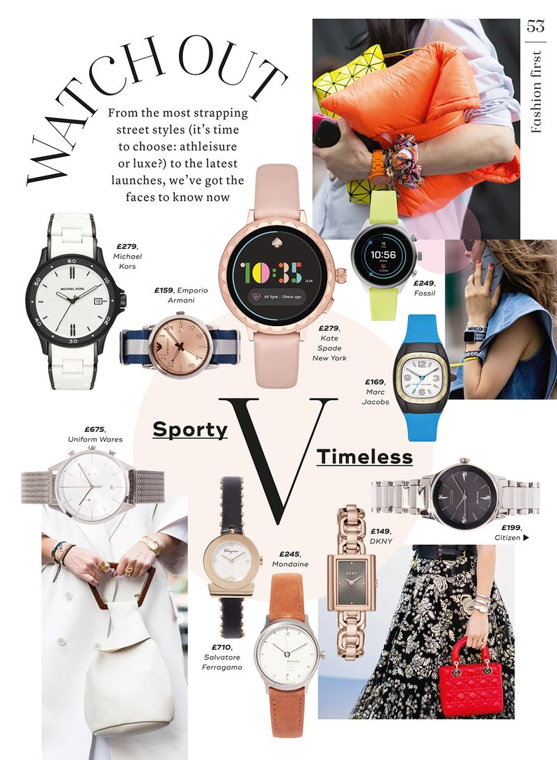 Watch feature, Marie Claire UK, May 2019