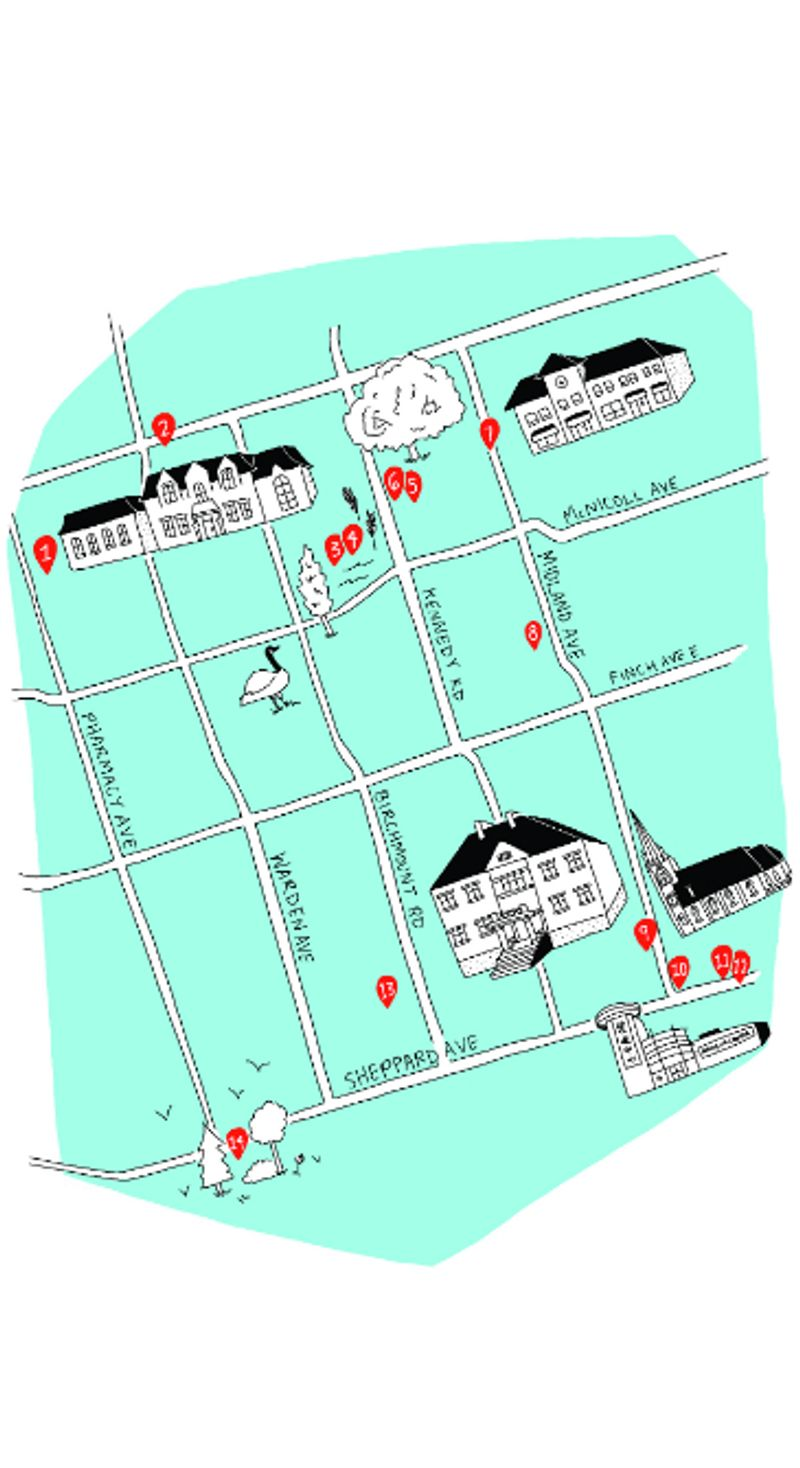 LeeAndra Cianci Illustrates Cultural Loops for The City of Toronto