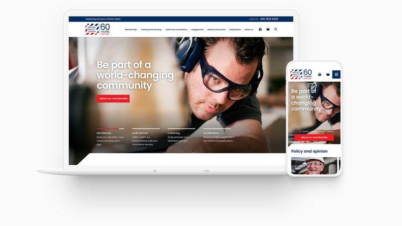 British Safety Council - Evolve brand identity for digital platform.