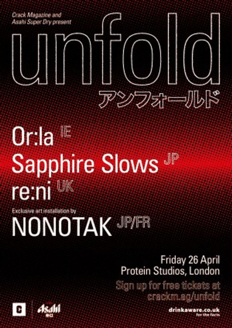 CRACK Magazine and Asahi present: unfold