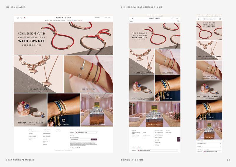 Monica Vinader - Digital Design 2019