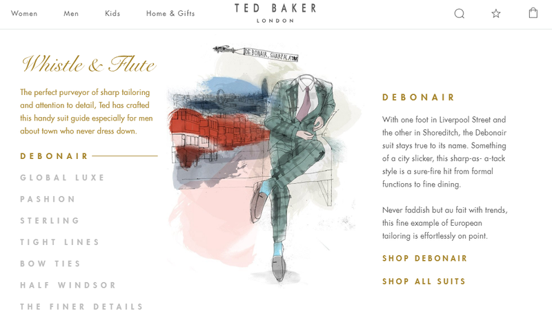 Ted Baker Whistle & Flute (Suit) Guide