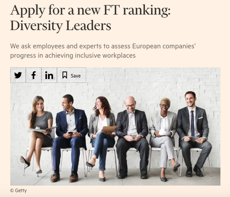 Financial Times ranking: Diversity Leaders