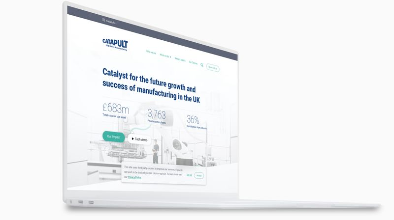 High Value Manufacturing Catapult - Maximising a limited brand identity in the digital realm