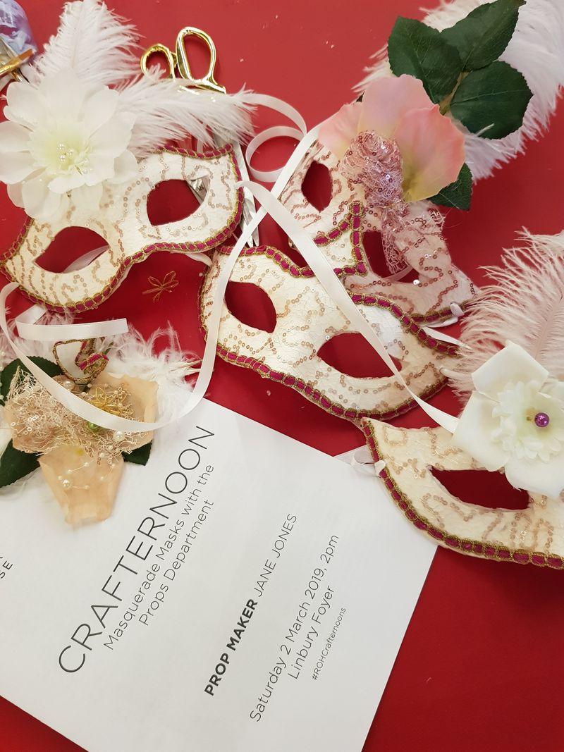 Masquerade, mask workshop leader at the Royal Opera House