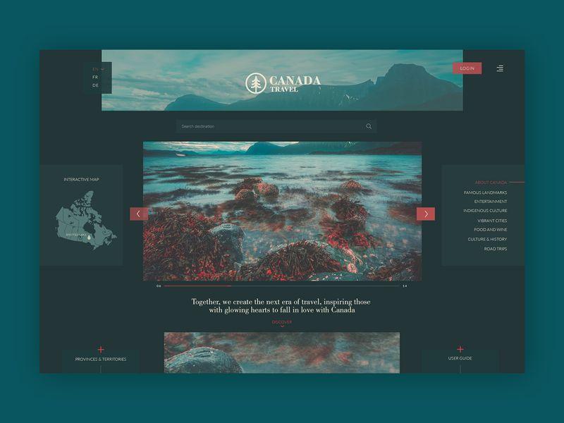 Canada Road Trip➥ Web Design