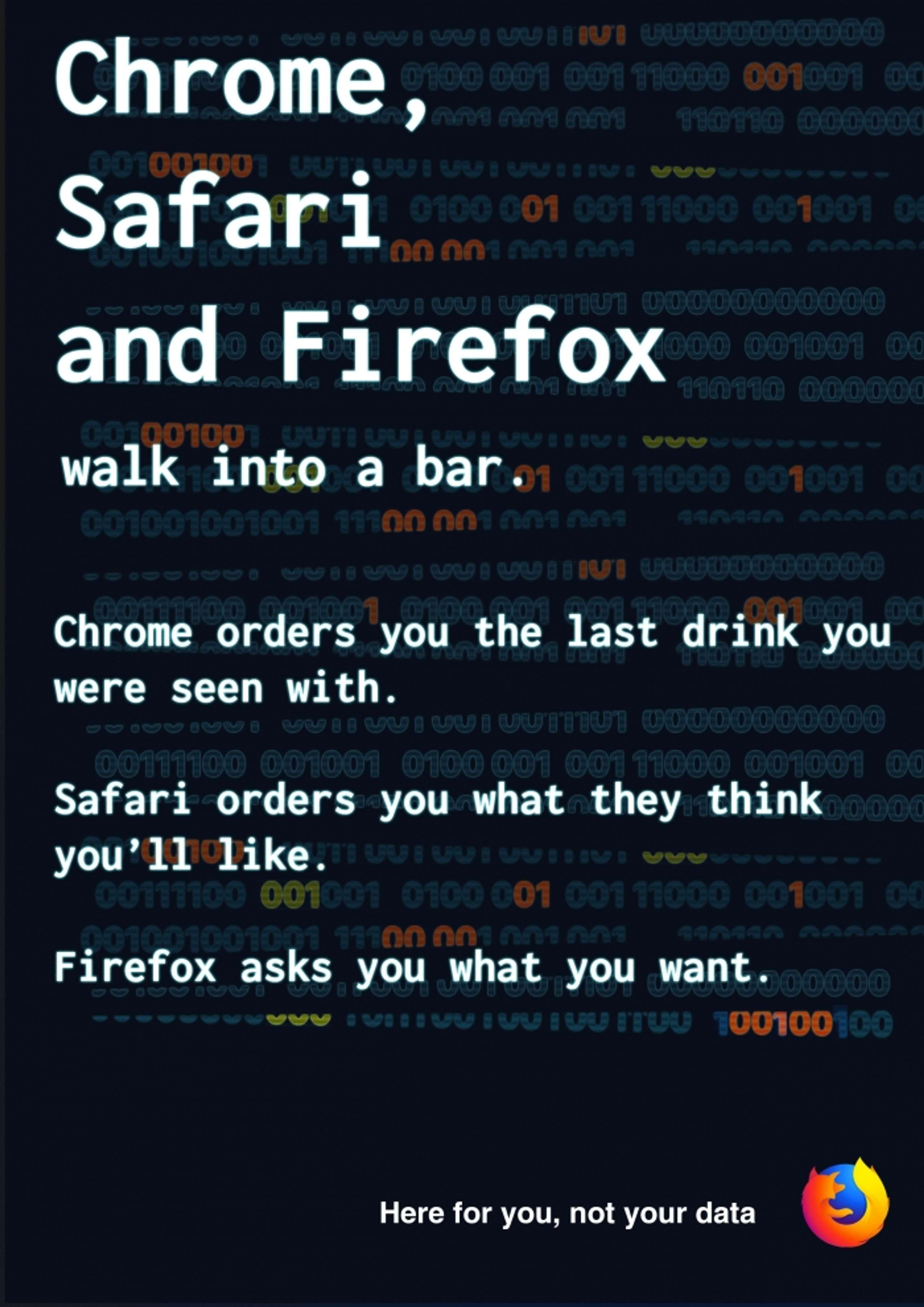 Chrome, Safari and Firefox walk into a bar  | The Dots