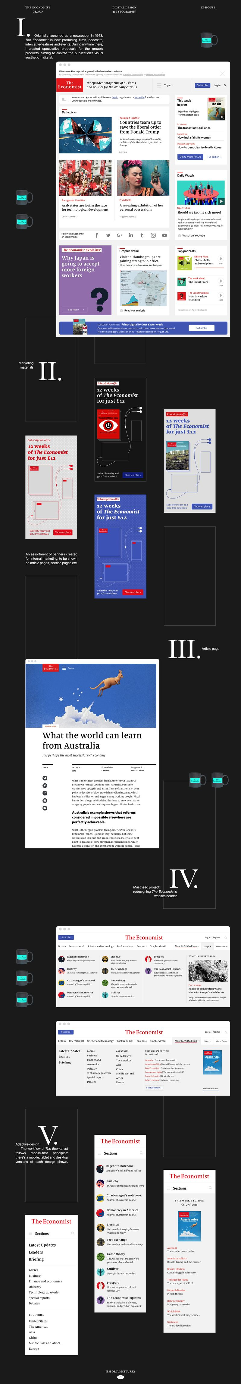 The Economist digital UI