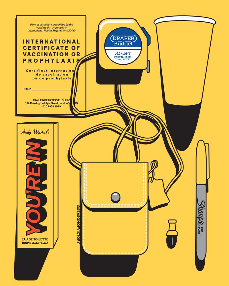 Colour themed flatlay illustrations - colorful illustrations, flatlay, editorial illustrations, freelance illustrator