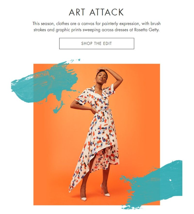 Weekly campaign emails for Harvey Nichols