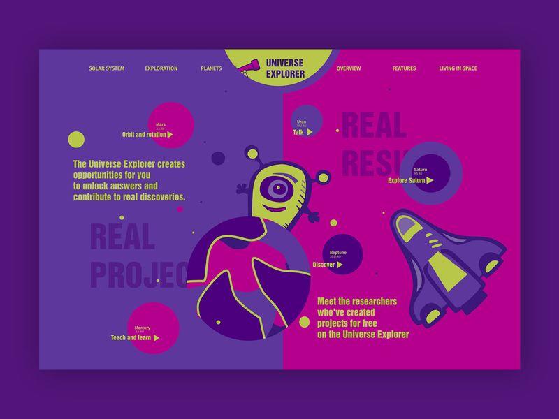 Universe Explorer➥ Web Design