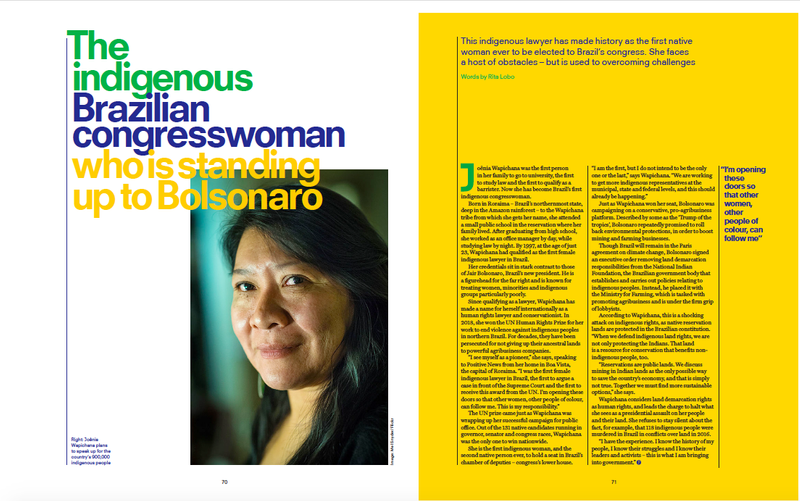 Positive News - The Brazilian Congresswoman Challenging the President