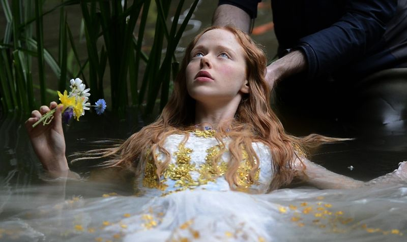 Ophelia Shoot- my behind the scenes film and images on Julia Fullerton-Batten's Old water Thames series