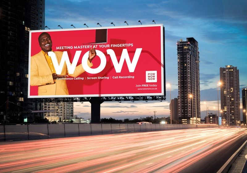 PowWowNow OOH Campaign