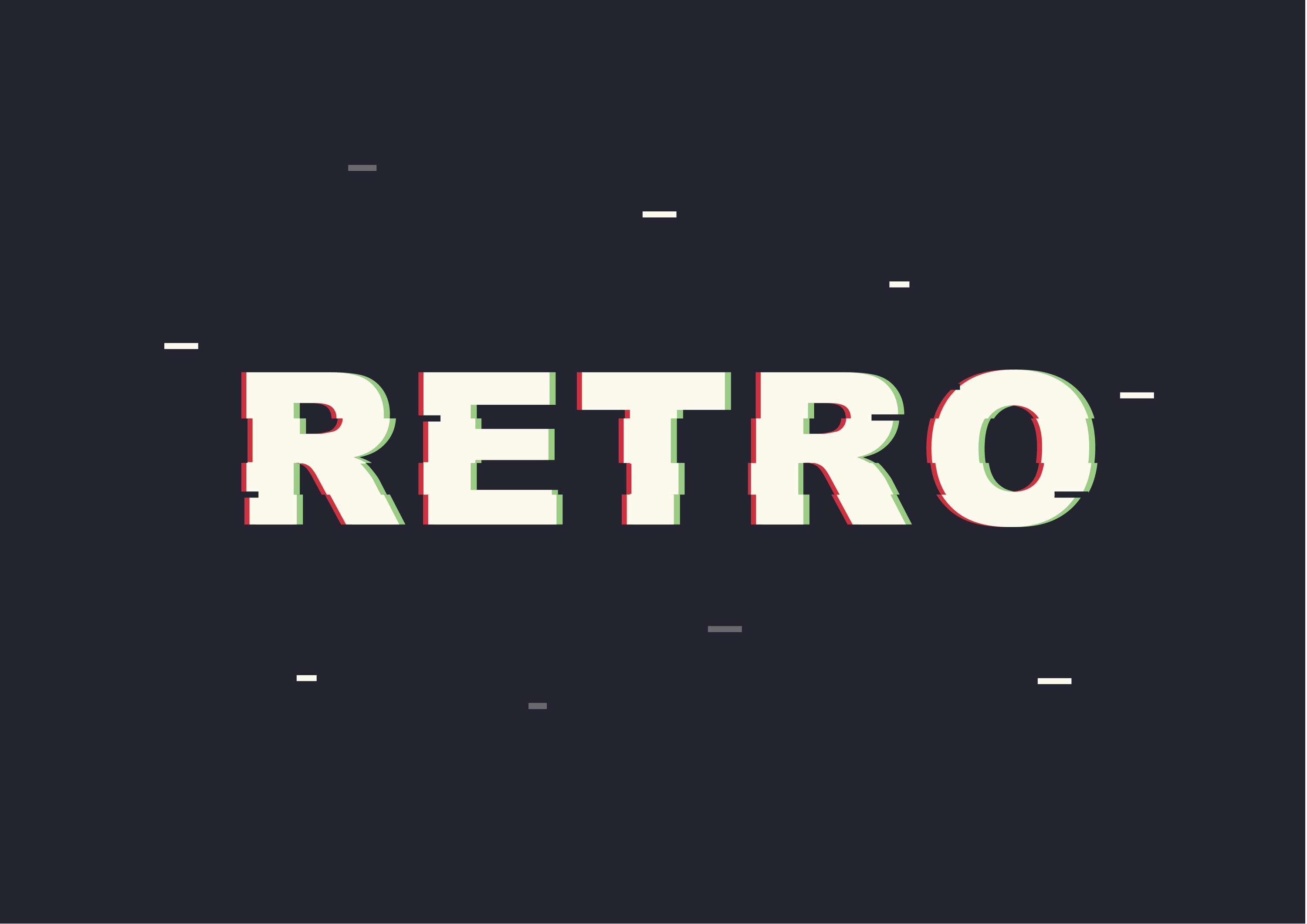 Retro text effect | The Dots