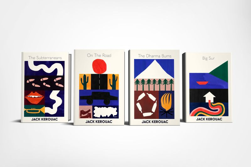 Jack Kerouac book cover designs