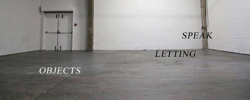 Letting Objects Speak