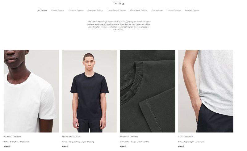 Copywriting | Men's T-shirt Guide, COS