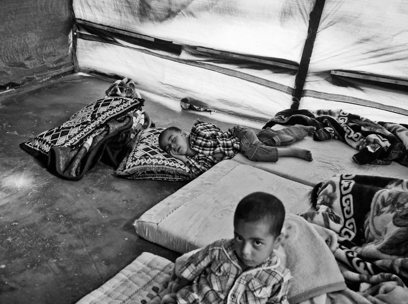 PHOTOGRAPHY: Where Syrian Children Sleep