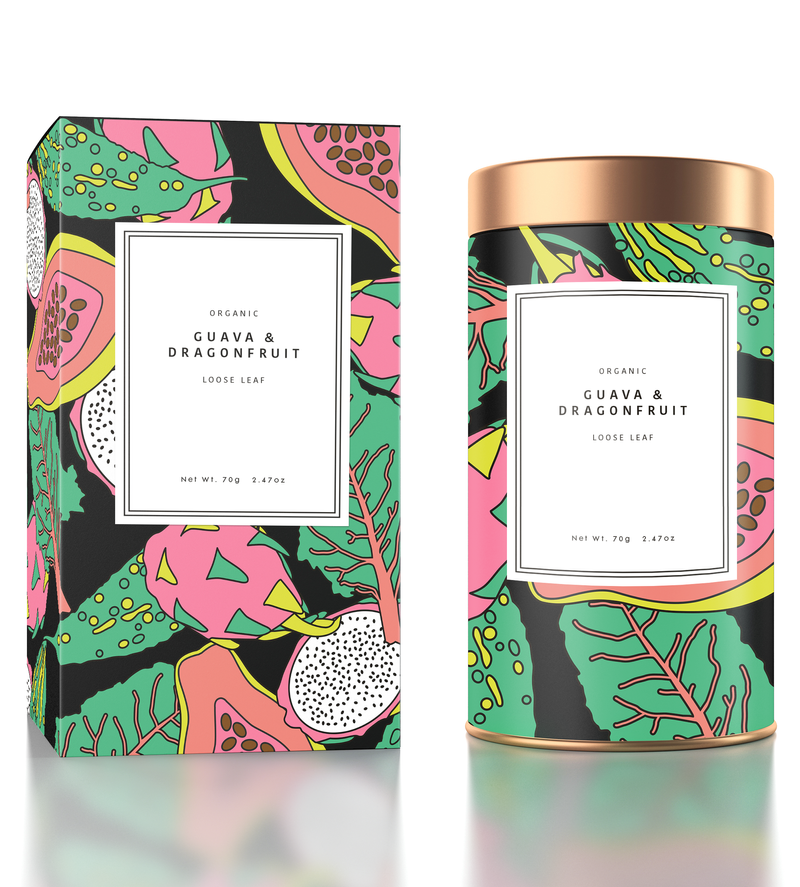 Organic Tea Packaging Design - illustration, design, packaging, exotic fruits, food & drink