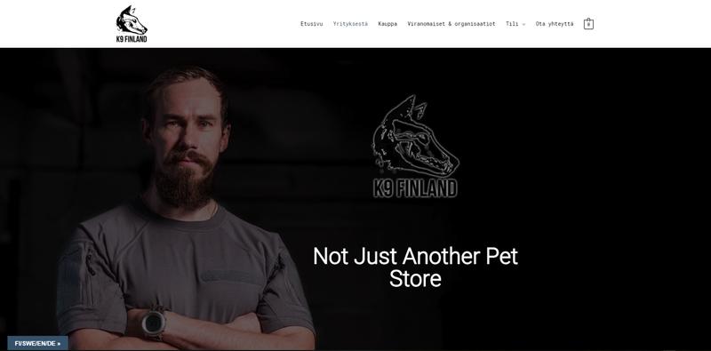 K9 Finland new online store