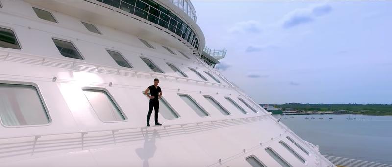 Harmony of the Seas launch - Pakour video