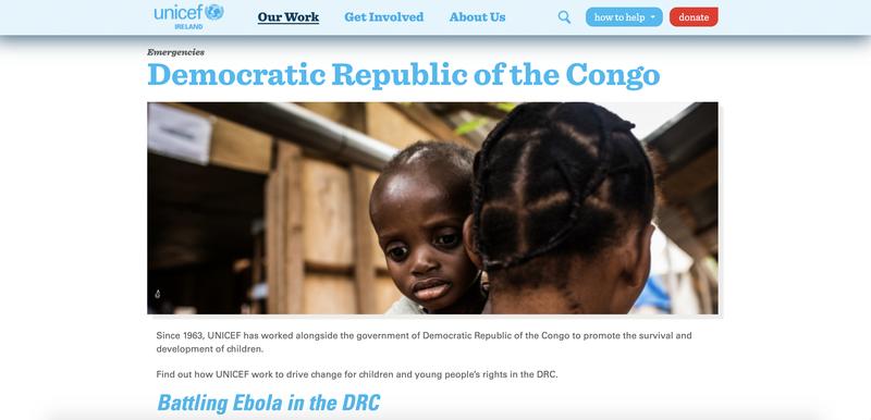 UNICEF Ireland Website Copy
